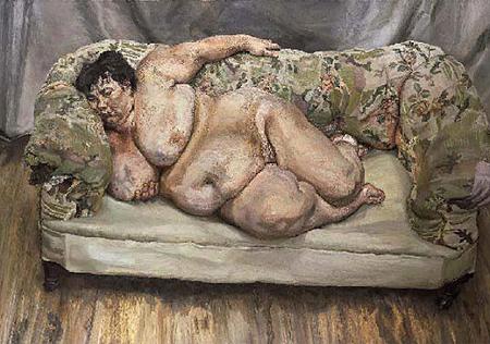 """За повечето хора, живият контакт – па дори, когато ти връчват призовка, е по-важен. Доказателство е портретът на """"голяма, гола, спяща шефка"""" от 1995 г., който наскоро бе продаден за 33,6 милиона долара и се превърна в най-скъпата картина от жив художник продавана някога."""