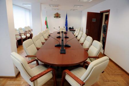 Заседателната зала на Софийския адвокатски съвет.