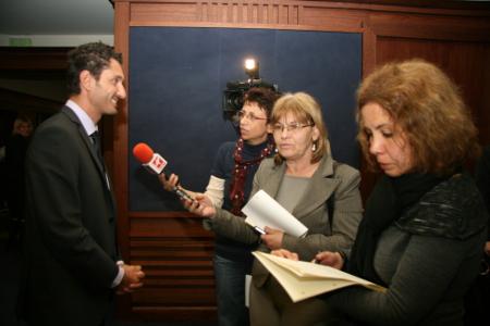 """Реферандерът в Люксембург д-р Александър Корнезов предизвика небивал медиен интерес с анализа си на """"тънката линия"""" между Люксембург и Страсбург."""