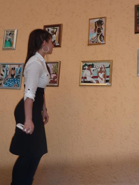 Младите дами бяха впечатлени от романтичните сюжети в работите на Таня Русева