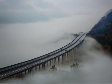 """""""Небесният път"""" в провинция Джъджианг. Фотография Huang Jingwu"""