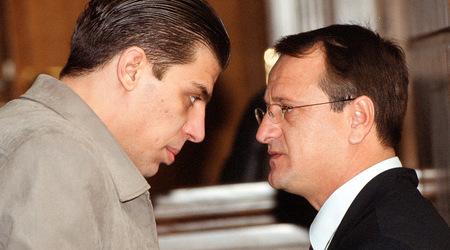 Осъденият Димитър Кънчев с последния си адвокат Слави Димитров преди последното съдебно заседание пред последната инстанция - Върховния касационен съд.