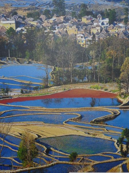 Терасовидните Хани поля и Червената река – провинция Юннан. Фотография на Chen Hainin/Xinhua